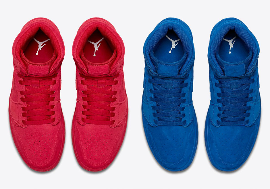 The Air Jordan 1 Blue and Red Suede are Releasing in Adult Sizes, Too.