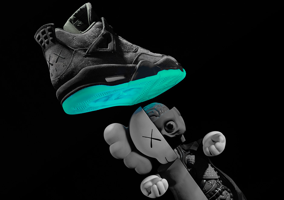 Your best look yet at the KAWS glow-in-the-dark soles