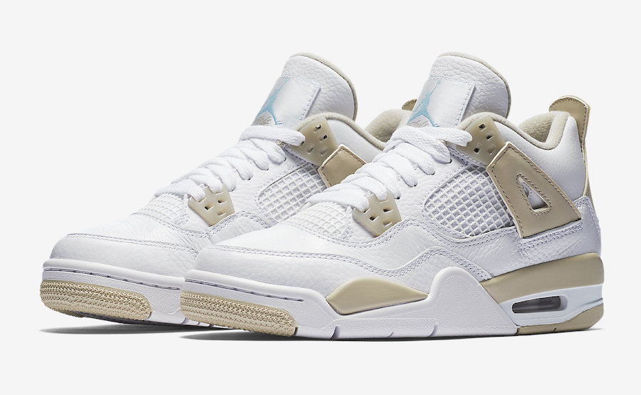 "Official Images of the Air Jordan 4 ""Linen"" GS have arrived"