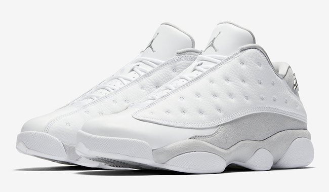 "Official Images: Air Jordan 13 Low ""Pure Platinum"""