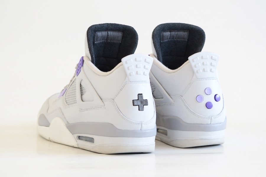 Check out this Super Nintendo x NBA Jam custom Jordan 4