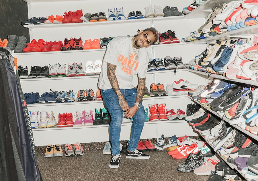 Check out Breezy's insane sneaker collection