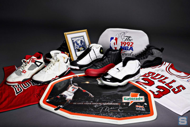 An entire collection of MJ memorabilia is up for grabs