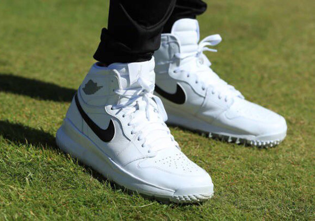 Jason Day takes to the green in the Air Jordan 1 Golf shoe