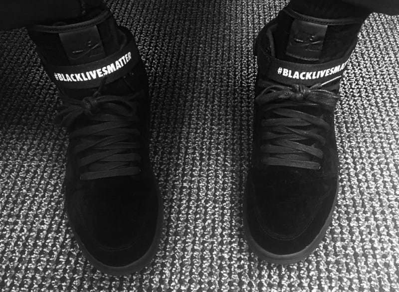 This Air Jordan 1 supports the #blacklivesmatter movement