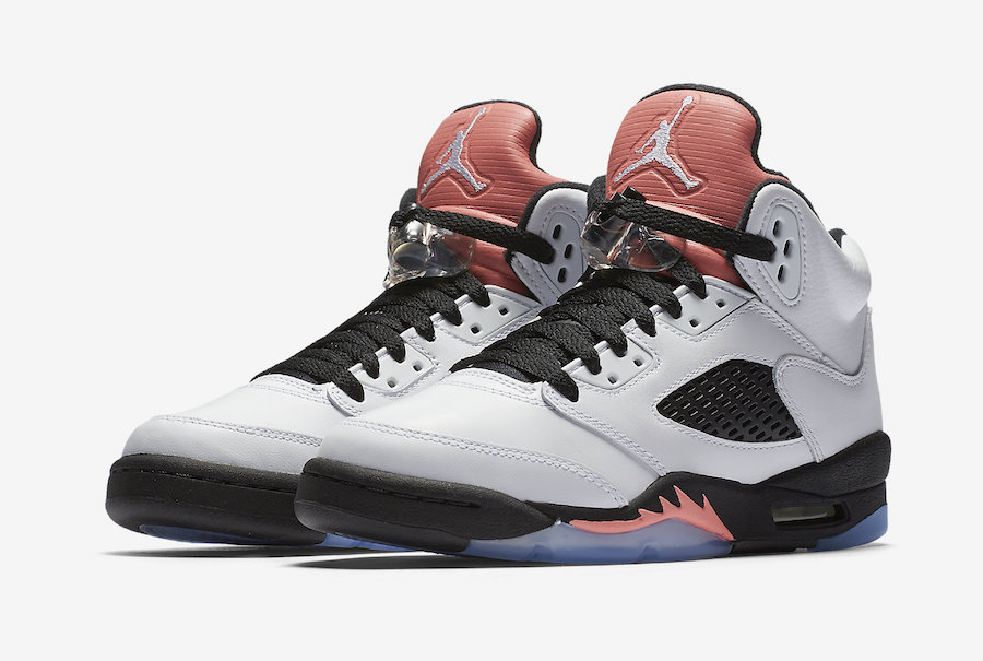 """Official images are here for the """"Sunblush"""" GS Jordan 5"""