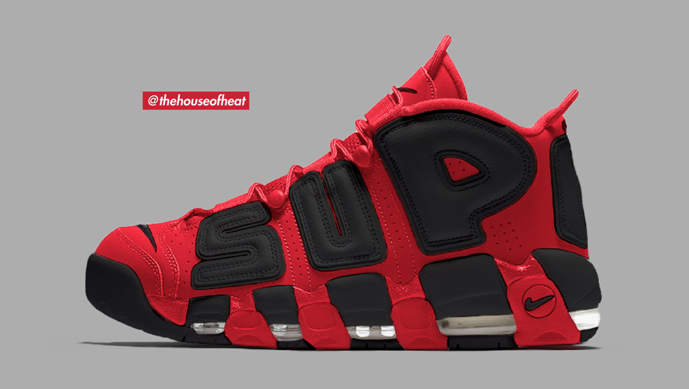 """Today's Concept : Nike Air More Uptempo x Supreme """"Bred"""""""