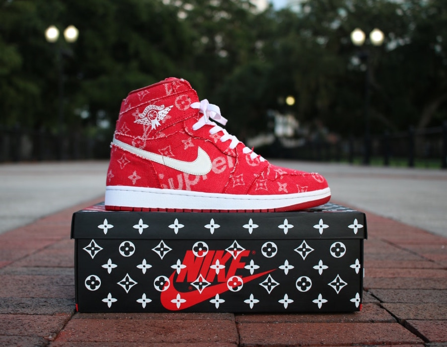 7eb2573d5f2f ... Check out these limited edition Louis Vuitton x Supreme Custom 1 s . ...
