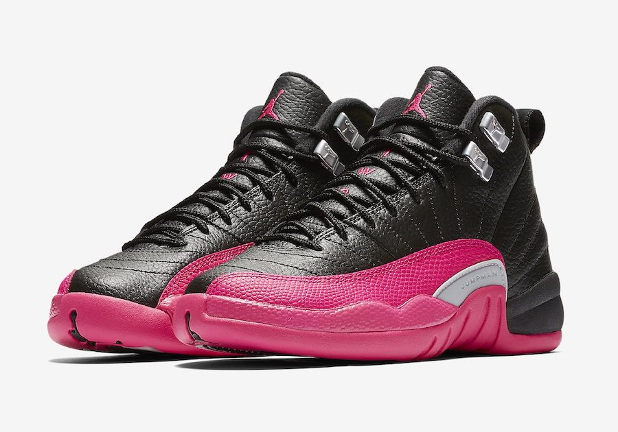 "An official look at the ""Deadly Pink"" GS Air Jordan 12"