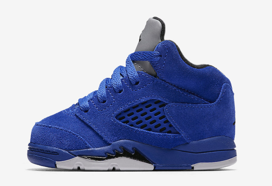 """The Air Jordan 5 """"Blue Suede"""" will release for the whole family"""