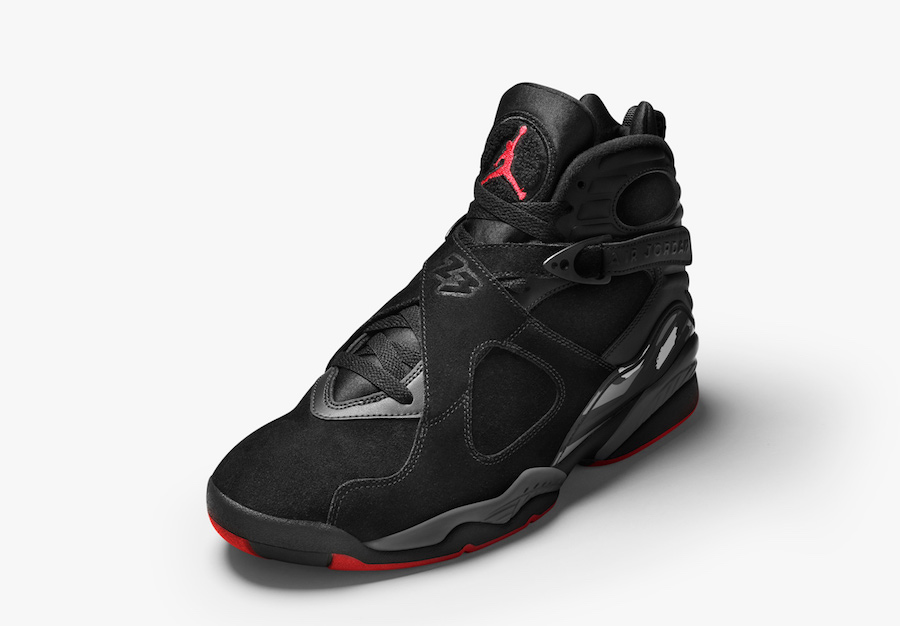 """The """"Bred"""" Jordan 8 will also release in GS sizing this weekend"""