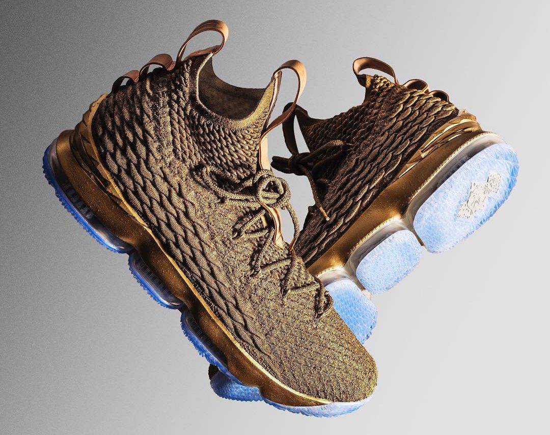 Check out LeBron's Gold 15's for GQ's 60th issue