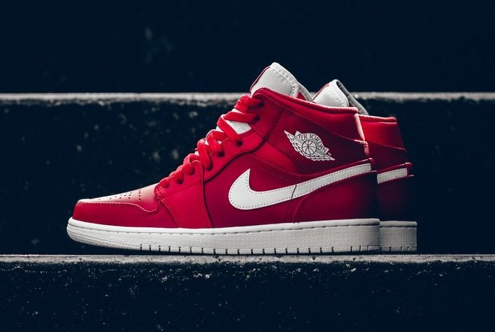"""This """"Gym Red"""" Air Jordan 1 Mid is now available"""
