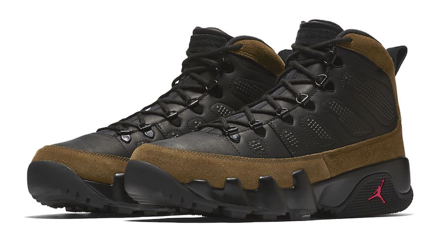 An official look at the Olive Air Jordan 9 Sneakerboot