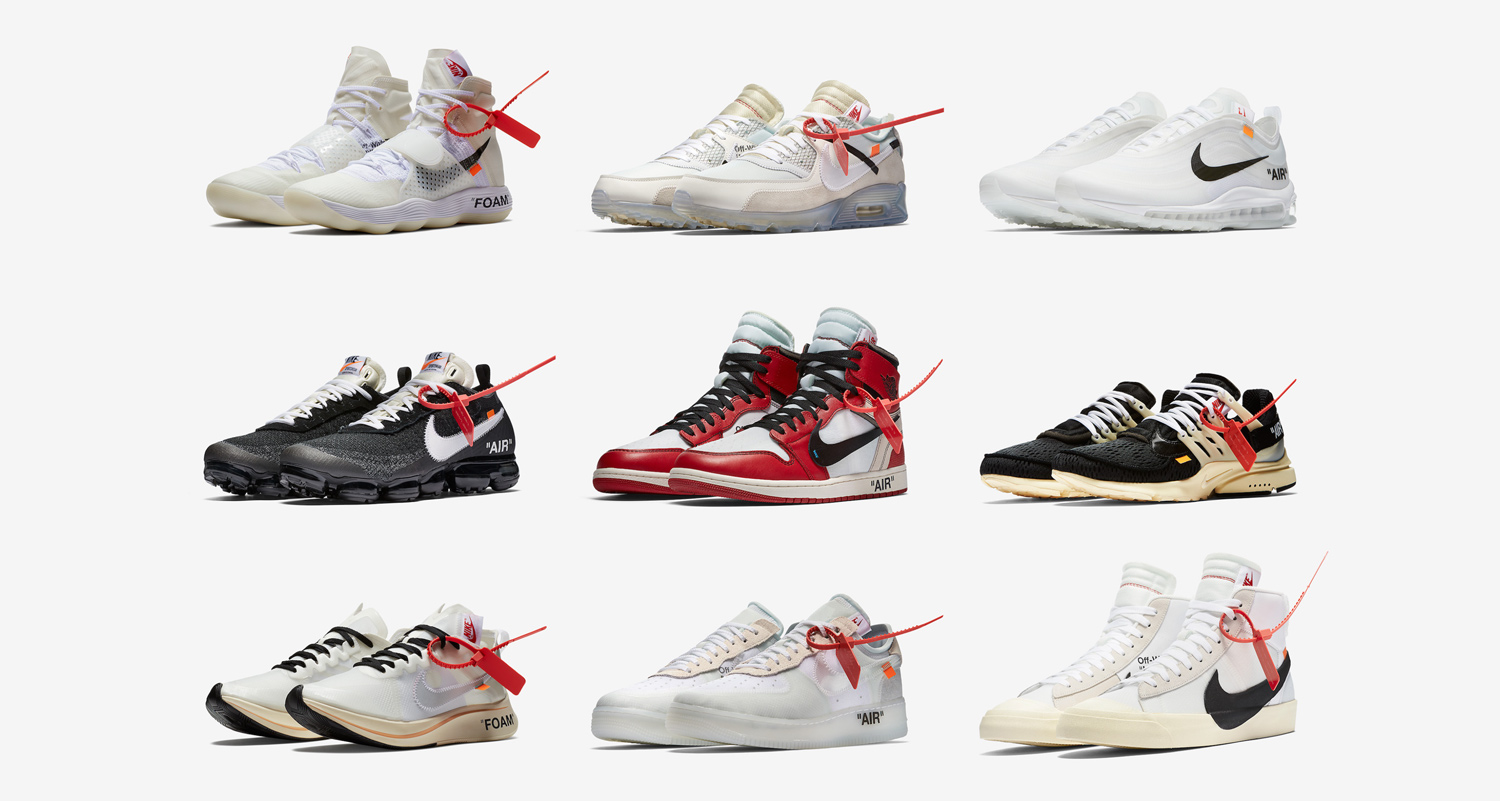 """The Nike x Off-White """"The Ten"""" collection releases TODAY"""