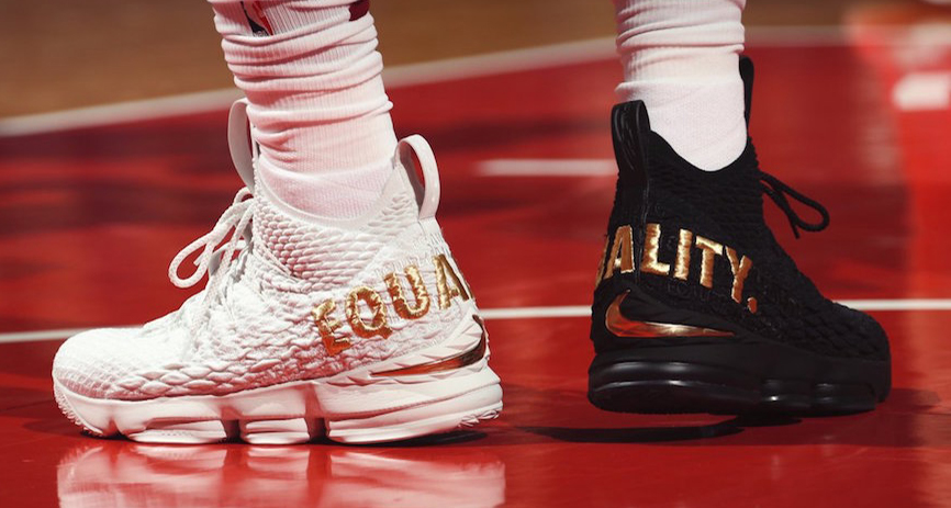 #HardwoodHeat : LeBron's latest PE's send a strong message
