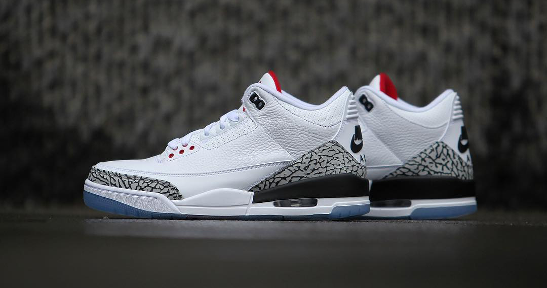 """Your best look yet at the """"White Cement"""" Air Jordan 3"""