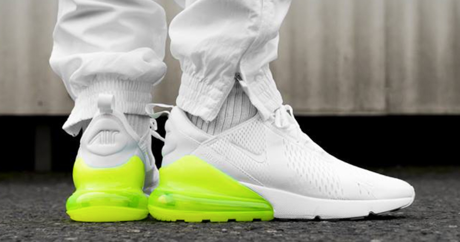 """The """"White Volt"""" Air Max 270 is available now"""