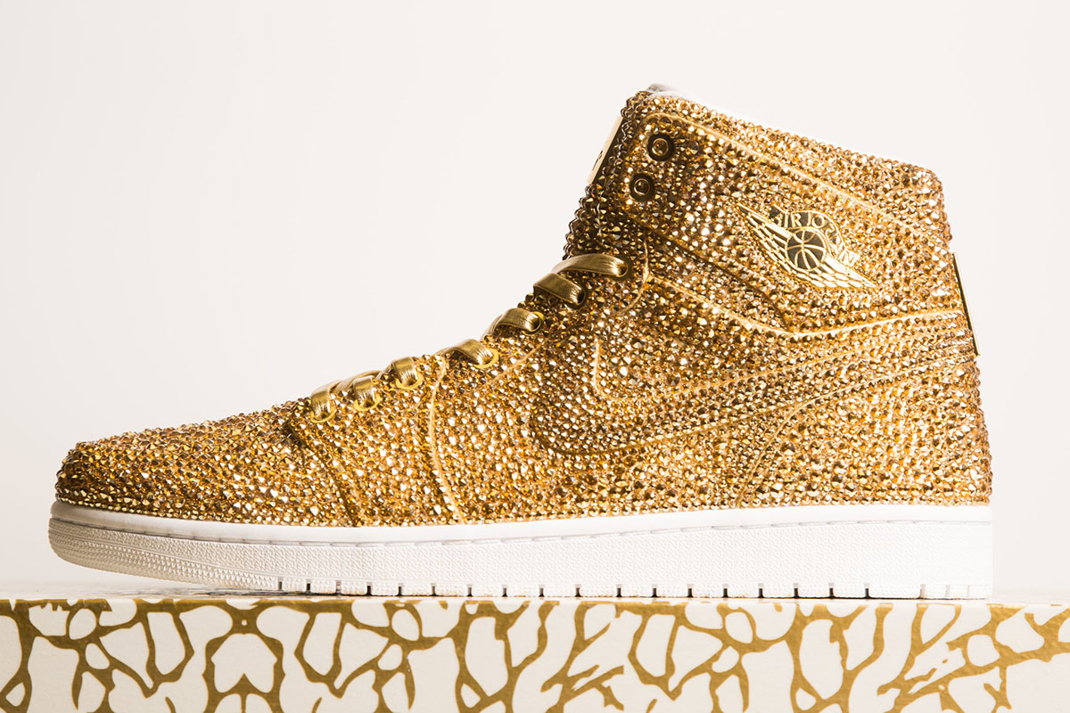 Over 15,000 crystals cover these $6.5k Jordans
