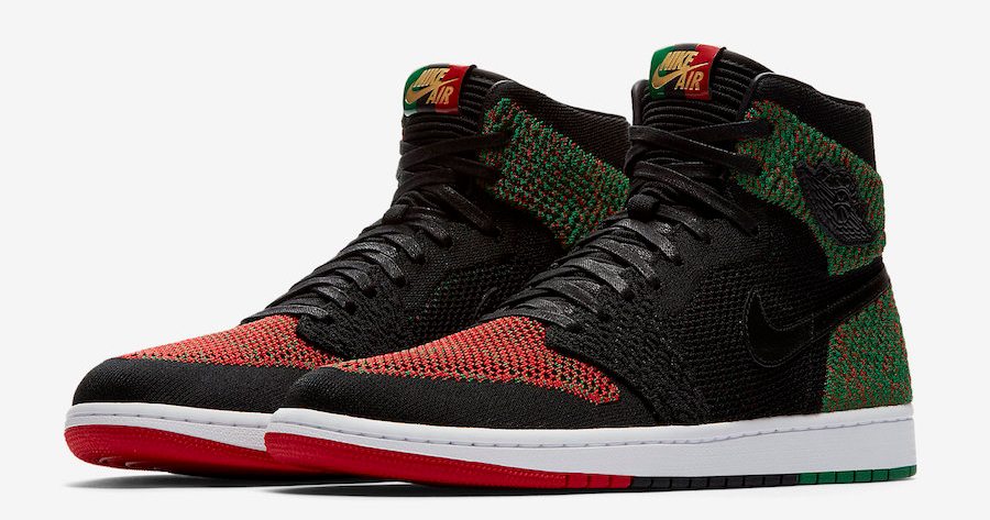 "A detailed look at the Air Jordan 1 Flyknit ""BHM"""