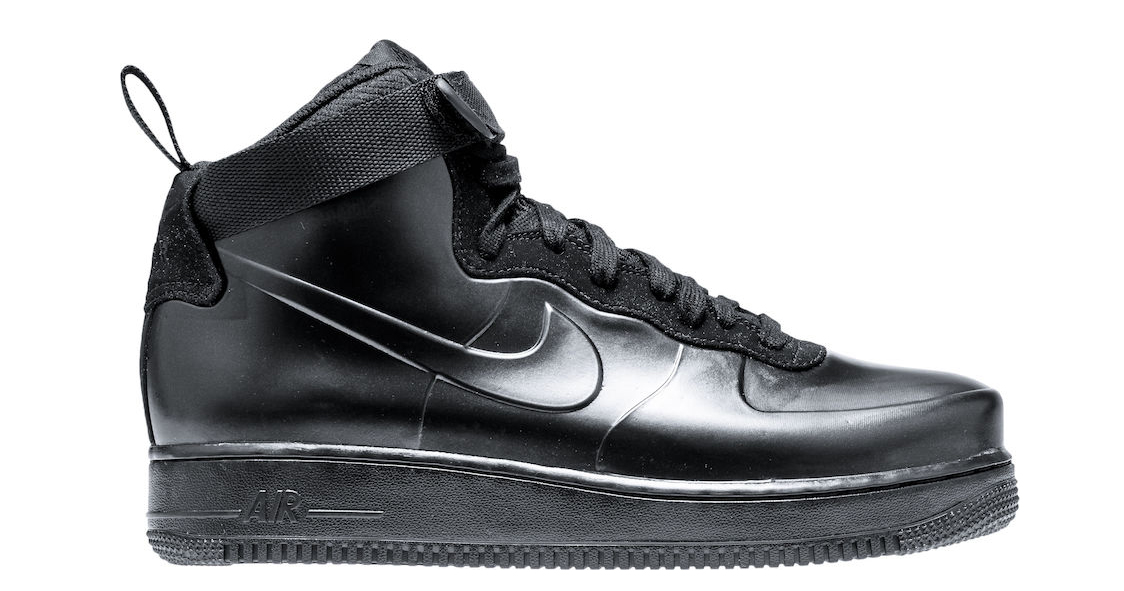 """These """"Triple Black"""" Air Force 1 Foamposites hit SNKRs this week"""