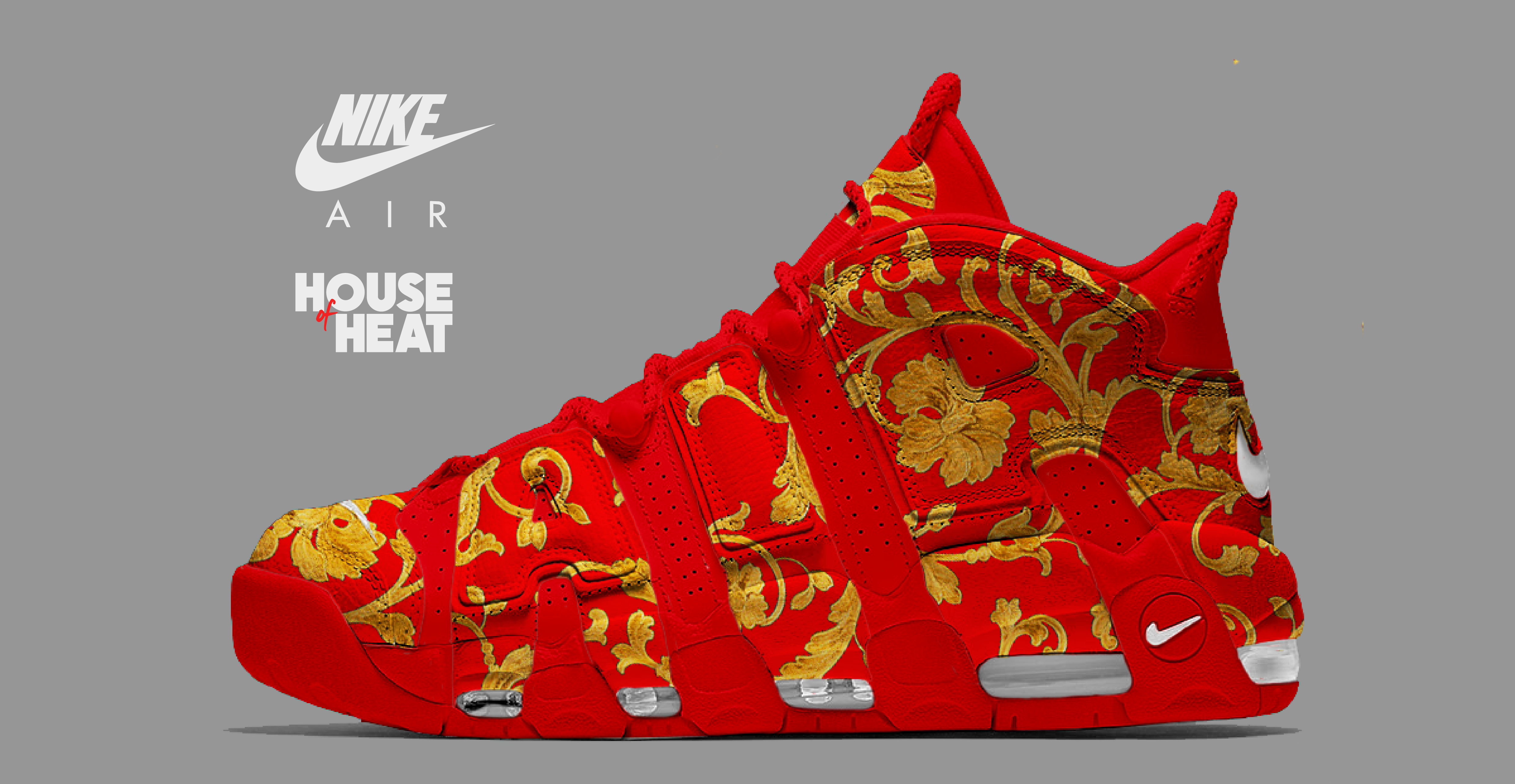 "The Concept Lab : Nike Air More Uptempo ""Red Versace"""
