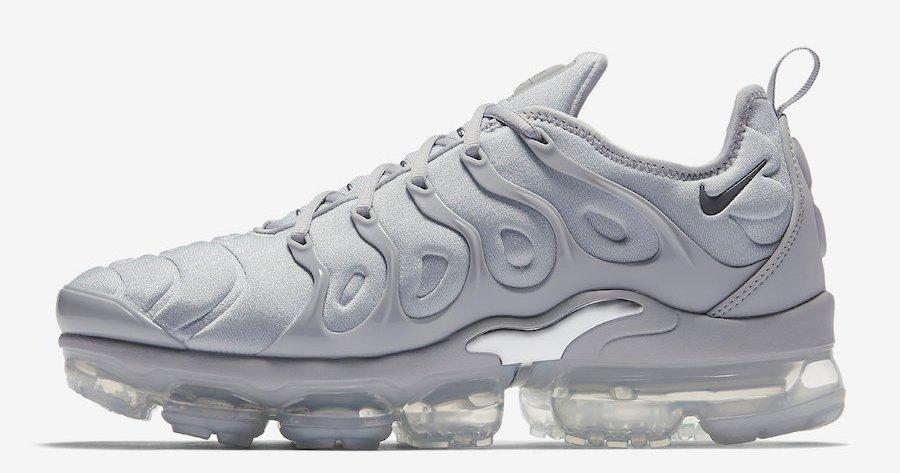 """The VaporMax Plus """"Cool Grey"""" releases this week"""