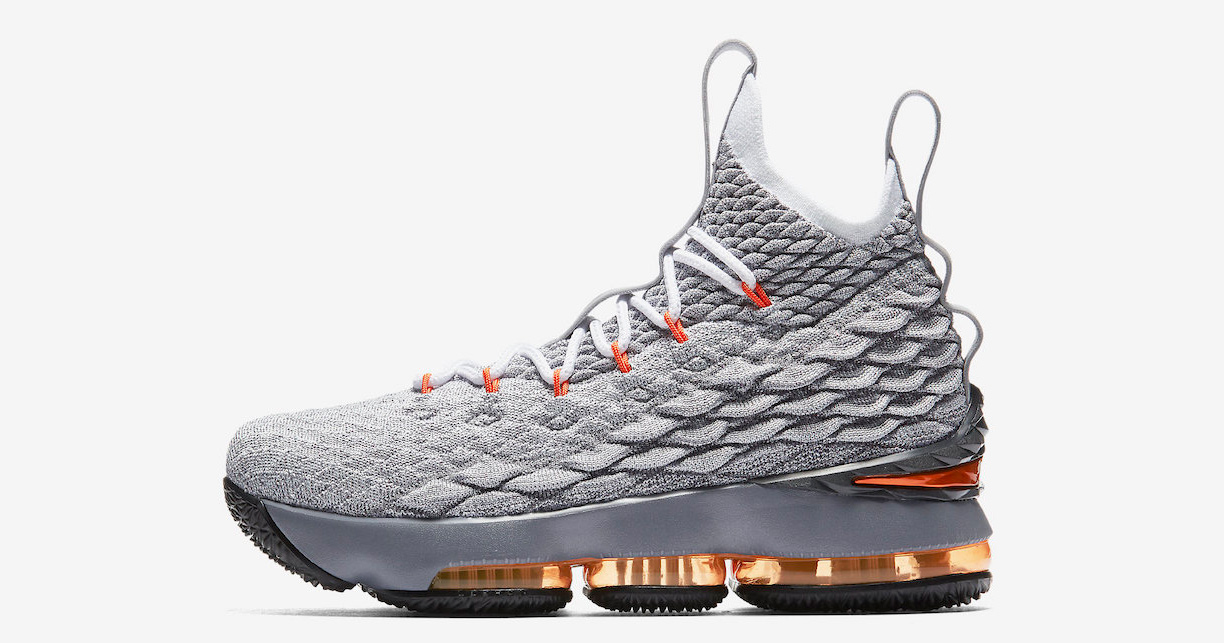 Hits of Safety Orange make this LeBron 15 pop