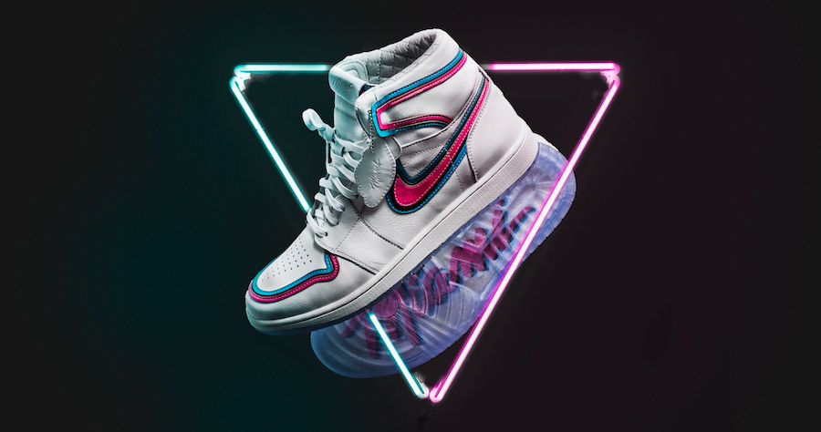 The Shoe Surgeon goes South Beach on these Air Jordan 1's