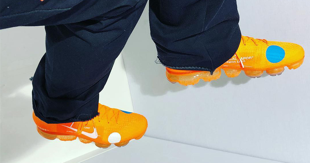 Virgil Abloh just shared a first look at an Orange VaporMax