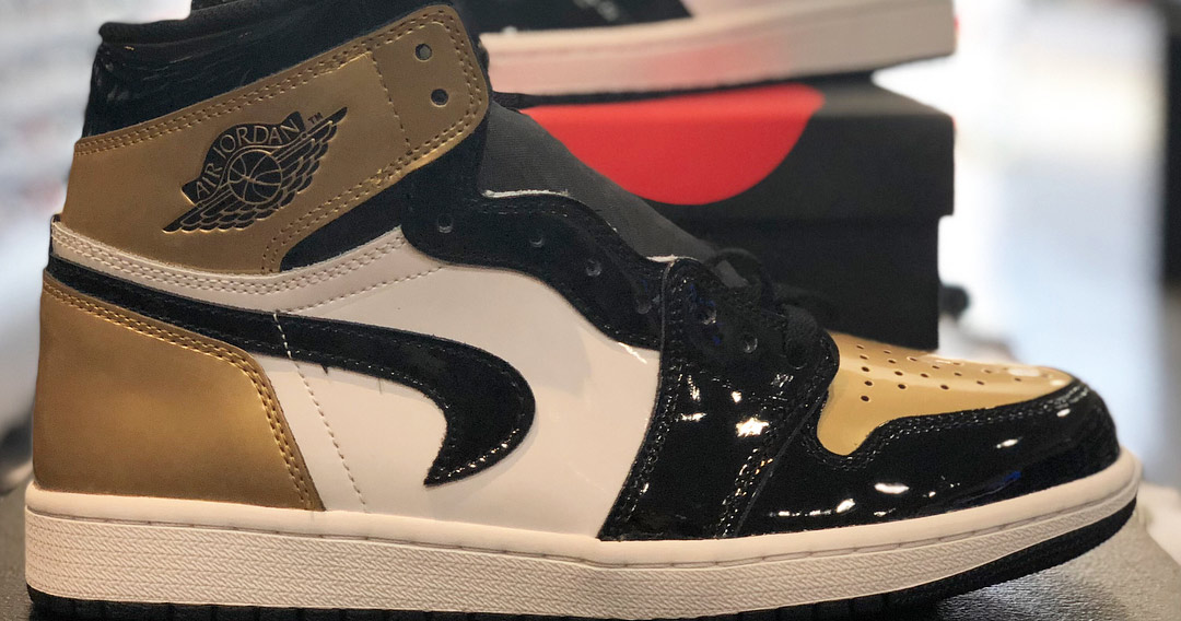 Bids for this factory-defect 'Gold Toe' Air Jordan 1 are over $80,000