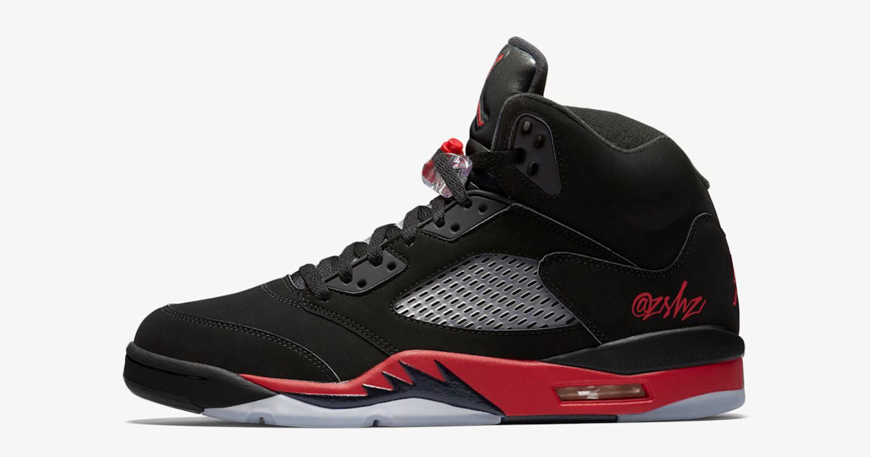The 'Bred' Air Jordan 5 will come decked out in Satin