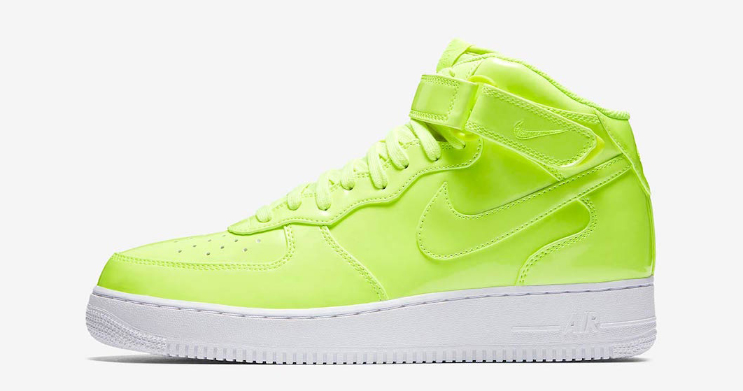 "Available now // Nike Air Force 1 Mid UV ""Volt"""
