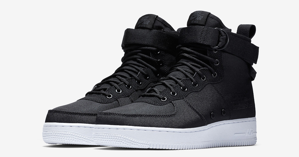 Available now // Nike SF-AF1 Mid in Black Nylon