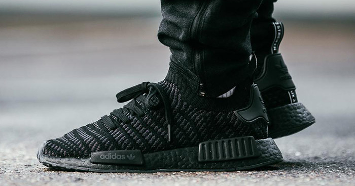 Available now // adidas NMD_R1 STLT 'Core Black'