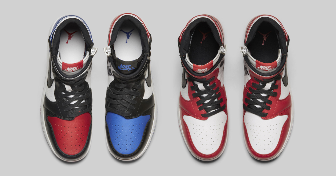 """The Jordan 1 """"Top Three"""" and """"Chicago"""" get rebelious"""