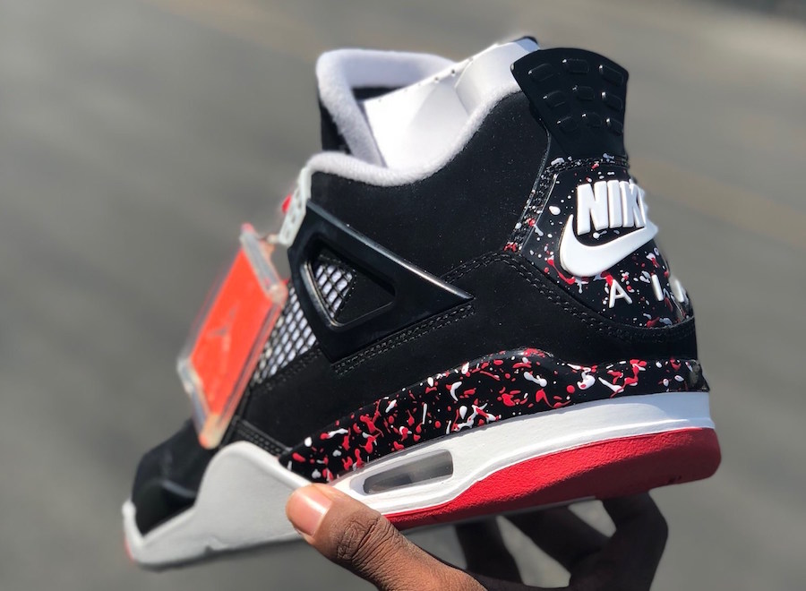 "Up close and personal with Drake's ""Splatter"" Air Jordan 4"