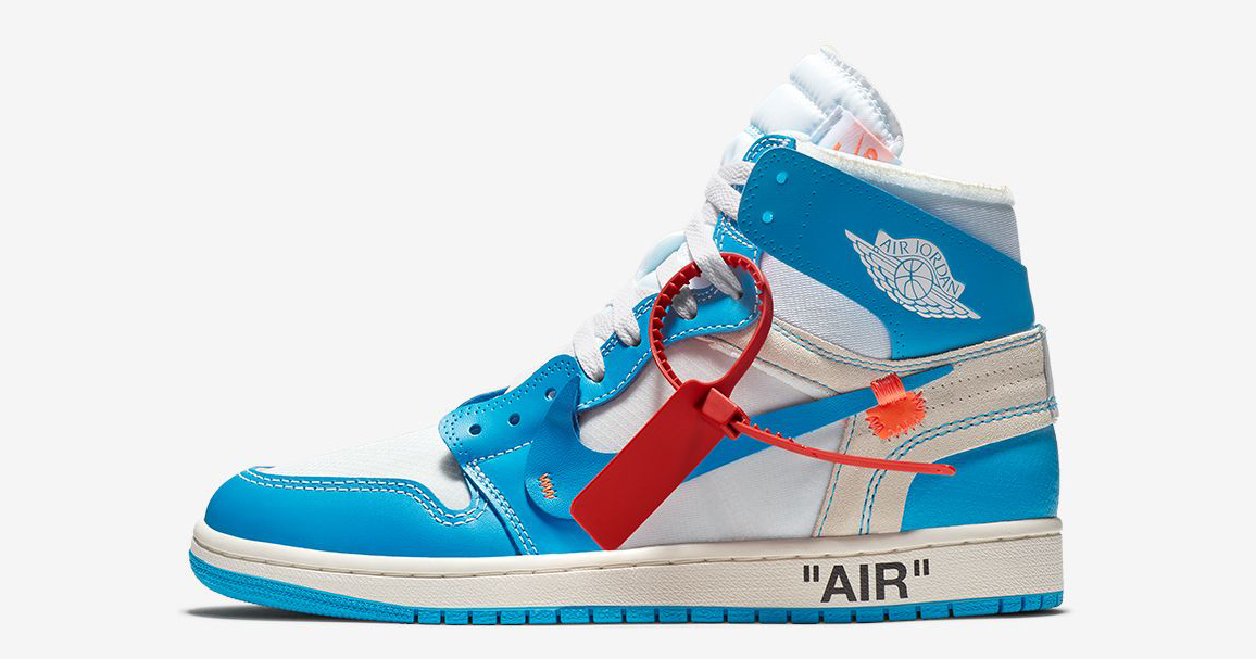 "The Off-White x Air Jordan 1 ""UNC"" will release again this month"