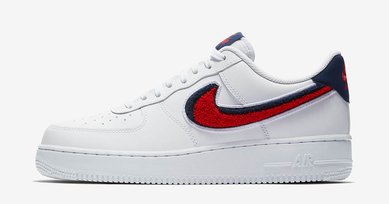 Available now // Nike Air Force 1 Low with Chenille Swooshes