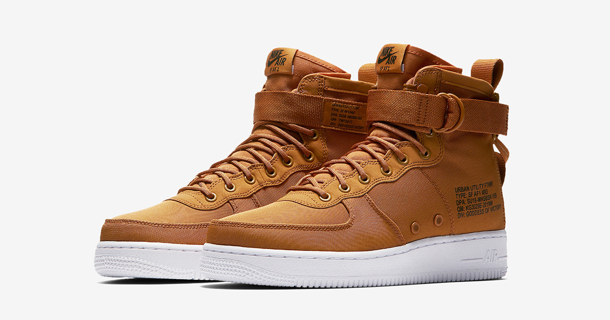 "Available now // Nike SF-Af1 Mid ""Desert Ochre"""
