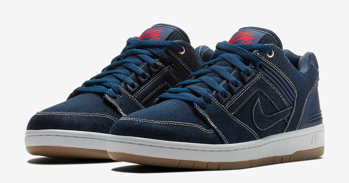 """Available now // Nike SB Air Force II Low """"Denim"""""""