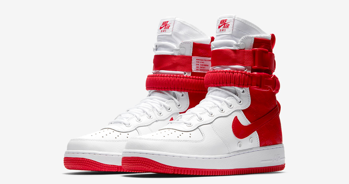 """Available now // Nike SF-AF1 High """"University Red"""""""