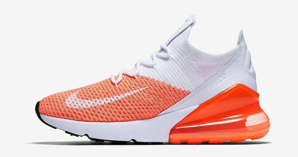 "Nike's Air Max 270 Flyknit is back in ""Crimson Pulse"""