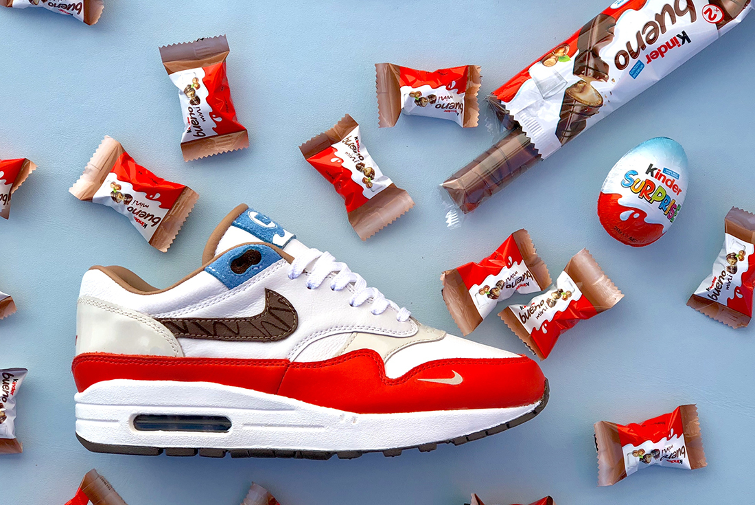 Surprise! BespokeIND have crafted a Kinder-themed Air Max 1