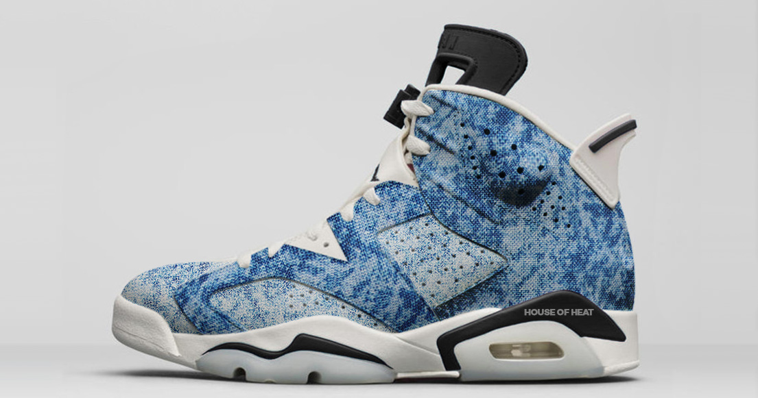 There's two more denim Jordans on the way, and Jordan Brand are taking them on an acid trip