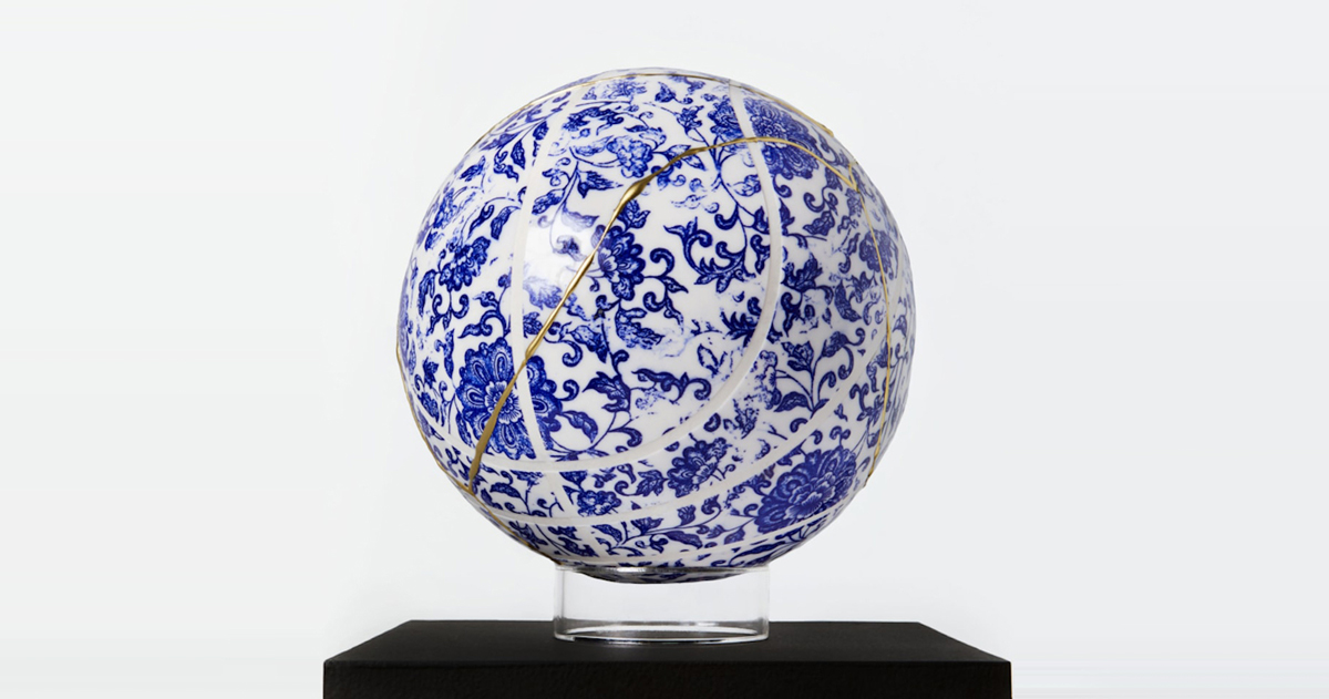 Peep this incredible reconstructed ceramic basketball