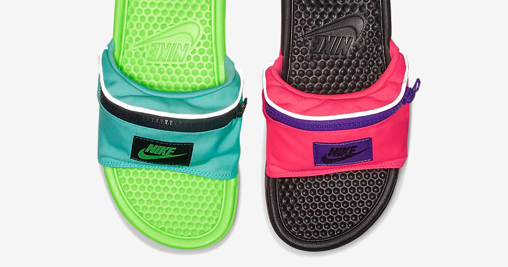 Yes, this is real. Nike just dropped Fanny Pack slides.