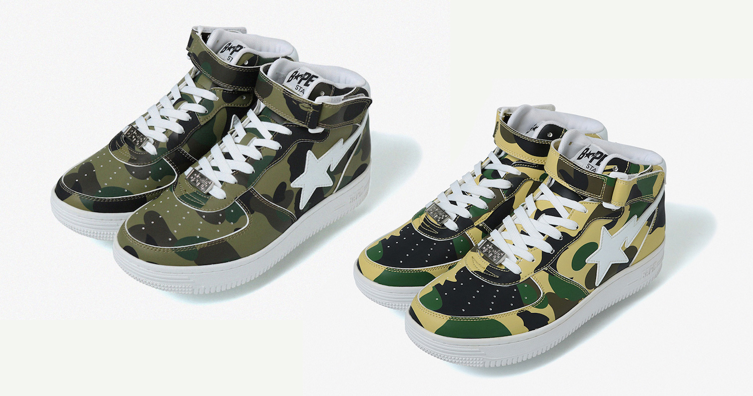 """The Bapesta is back in """"First Camo"""""""