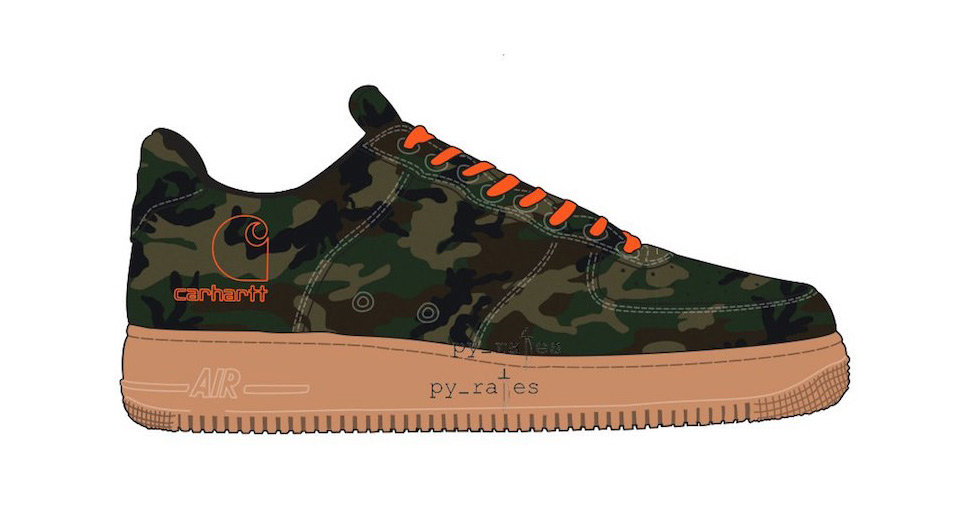 Carhartt to Colaborate on two Air Force 1's (and one Air Max 95)