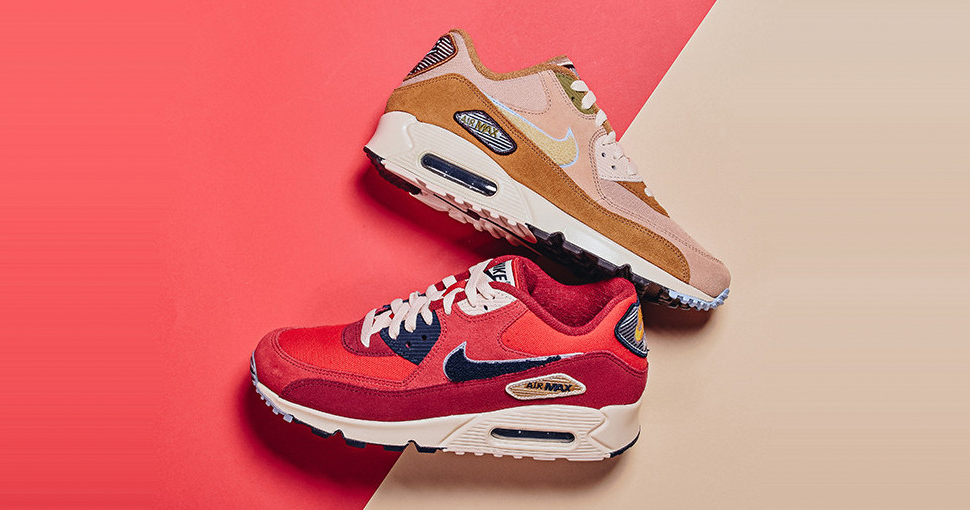 """Available now // Nike Air Max 90 Premium SE """"Varsity Pack"""""""